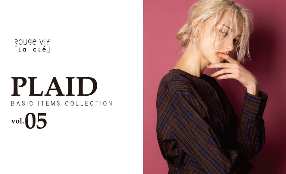 """PLAID"" BASIC ITEMS COLLECTION vol.5"