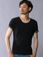 5351POUR LES HOMMES - キャッチワッシャークルーネックカットソー