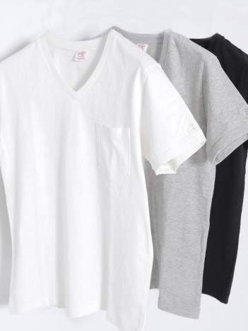 RUSSELL 別注HIGH COTTON Vネック